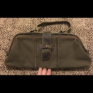 Army green distressed purse